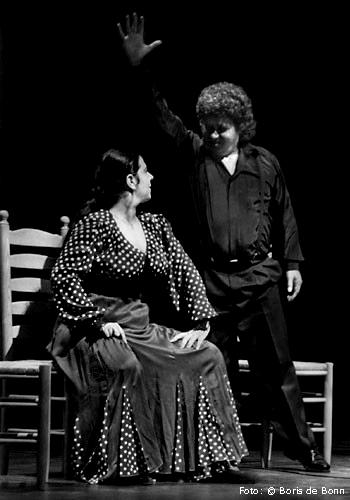 Flamenco-Tänzerin Rosa Martínez & Sänger Curro Fernández / SW-Foto by Boris de Bonn