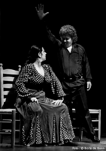 Flamenco-Tänzerin Rosa Martínez & Sänger Curro Fernández on stage