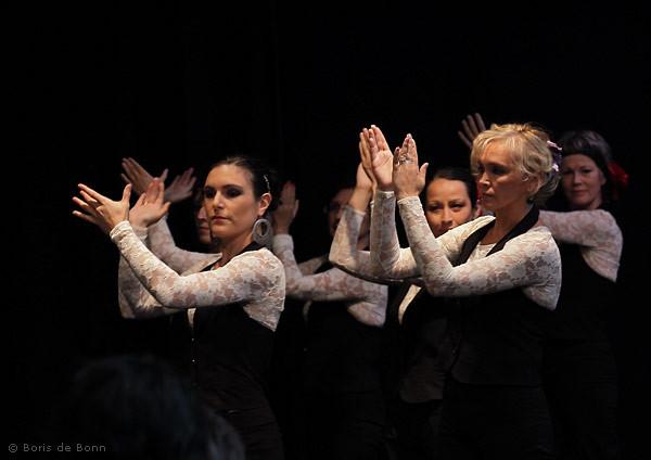 Rhythmisches Händeklatschen (Palmas) beim Flamencotanz Farruca