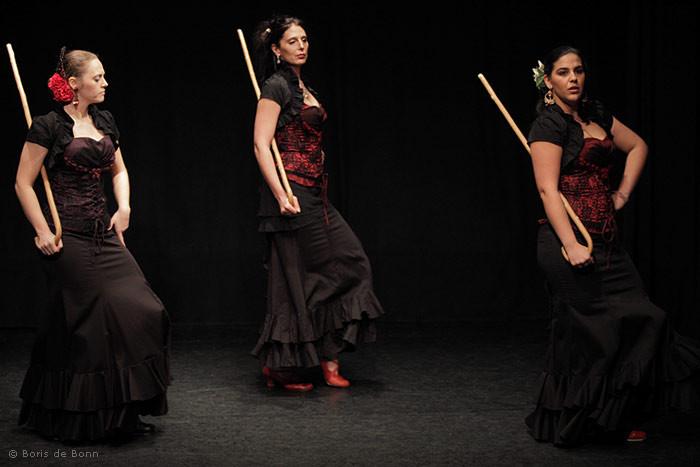 Flamencotanz Seguiriyas mit Bastón (Stock)