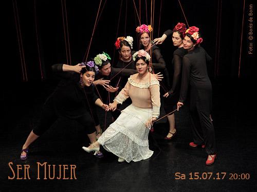 """Titelfoto zur Flamenco-Aufführung """"Ser Mujer"""" beim spanischen Sommerfest 2017 im Tanzstudio La Fragua in Bonn / Color-Foto by Boris de Bonn"""
