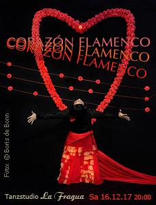"Titelfoto zur Flamenco-Aufführung ""CORAZÓN FLAMENCO"" 2017 im Tanzstudio La Fragua in Bonn / Color-Foto by Boris de Bonn"