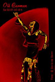 """Titelfoto zum spanischen Sommerfest 2016 im Tanzstudio La Fragua mit de Flamenco-Aufführung """"Olé Carmen""""/Color-Foto by Boris de Bonn"""