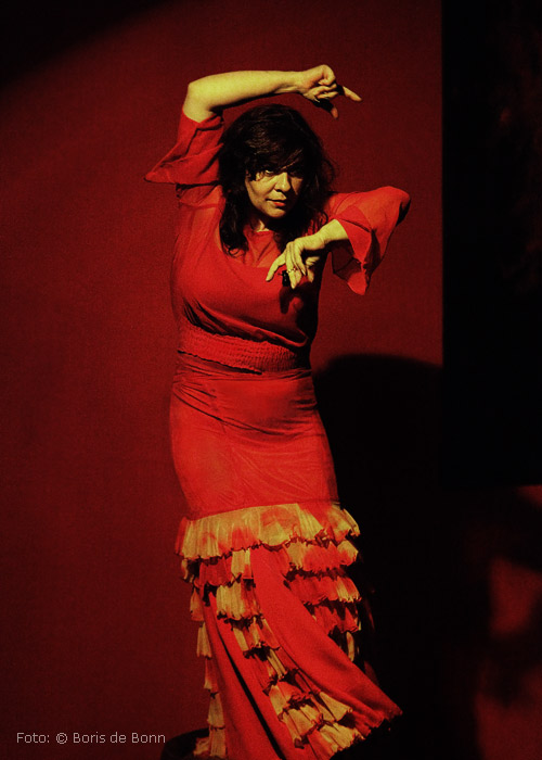 Flamenco-Tänzerin Rosa Martínez on stage