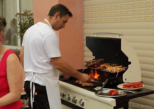 Grillstation für spansche Spezialitäten beim Sommerfest/Jubiläumsfeier 2011 im Tanzstudio La Fragua