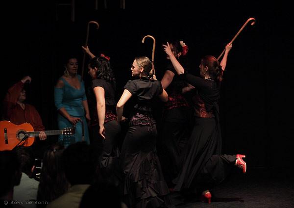 Abgang Flamencotanz Seguiriyas mit Bastón