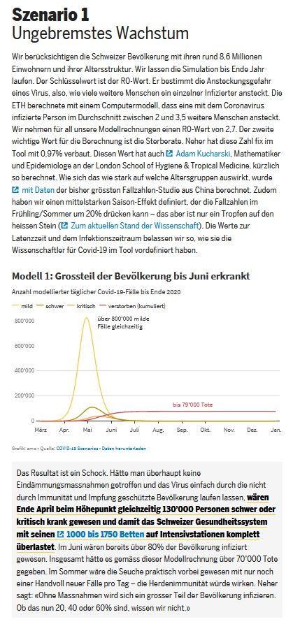 Brupacher M, Moor A. Drei Covid-19-Szenarien für die Schweiz.  TagesAnzeiger Online