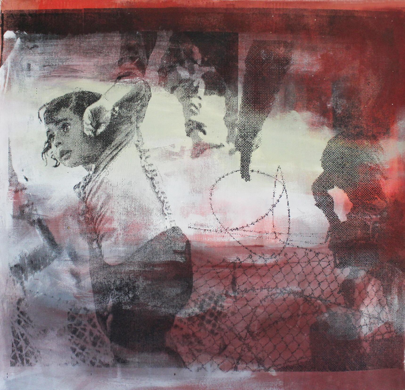 Sibylle Möndel | Grenzland #201518 | Acryl, Siebdruck auf Leinwand