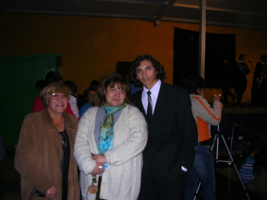 Con la directora del colegio San Miguel de los Andes - Varinia Parga.