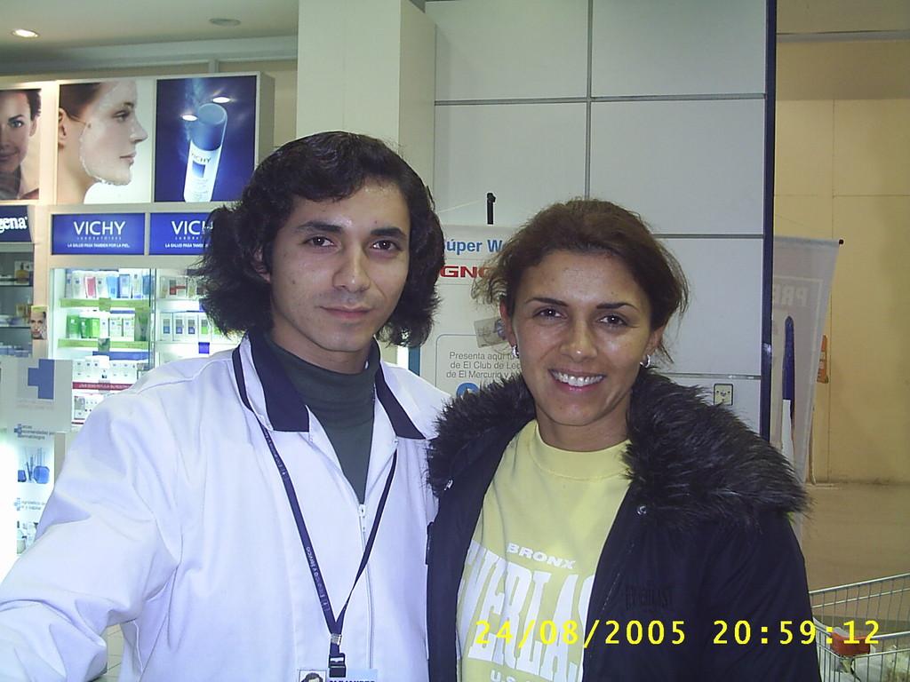 Con Ivette Vergara,