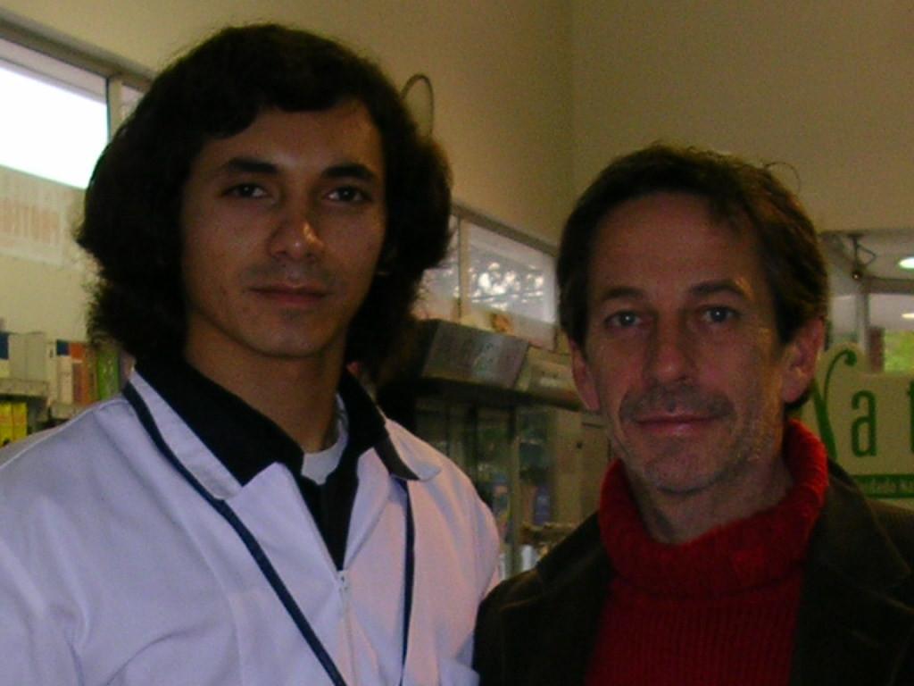 Con Alfredo Castro.