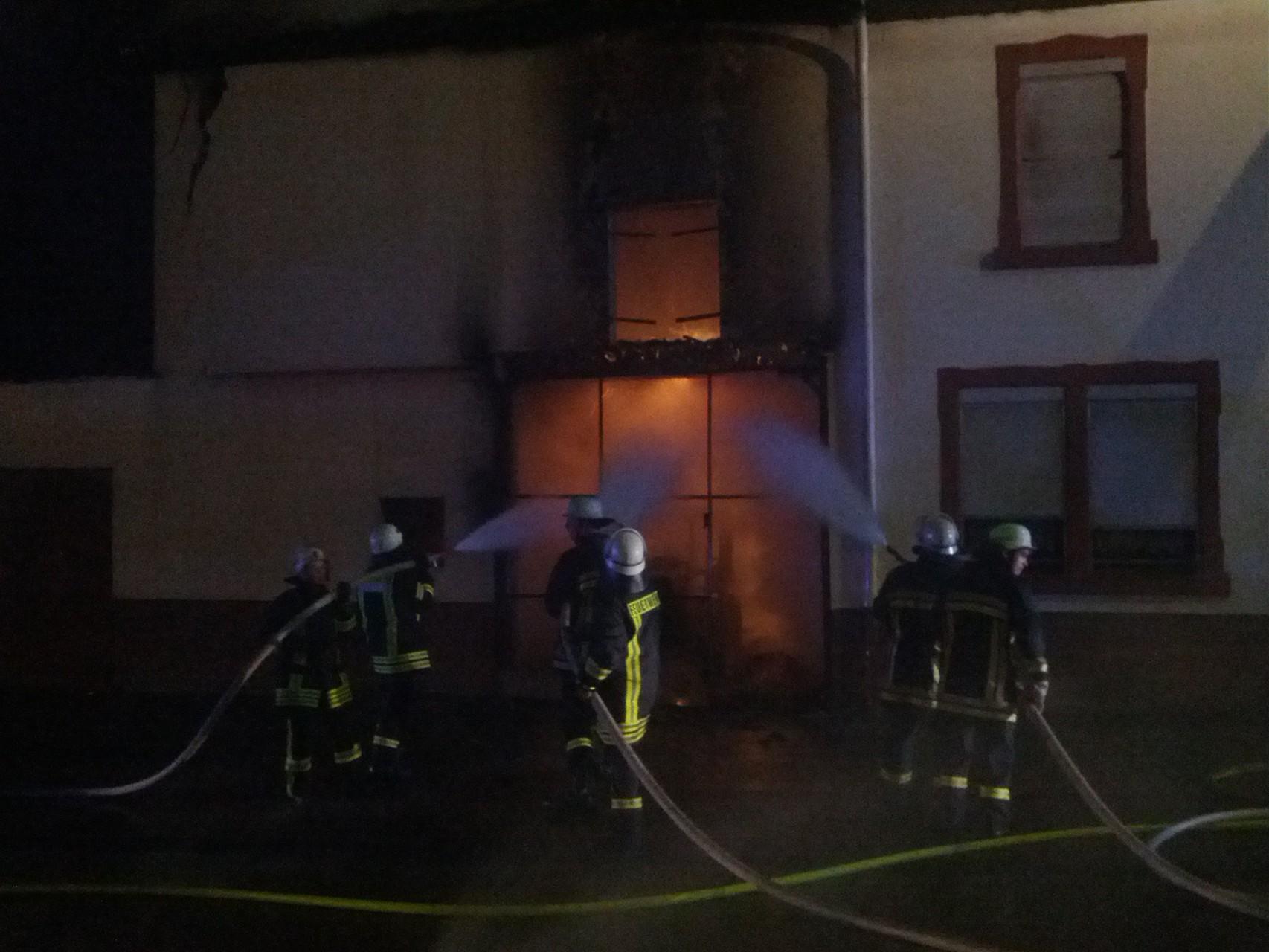Einsatz Gebäudebrand Taben