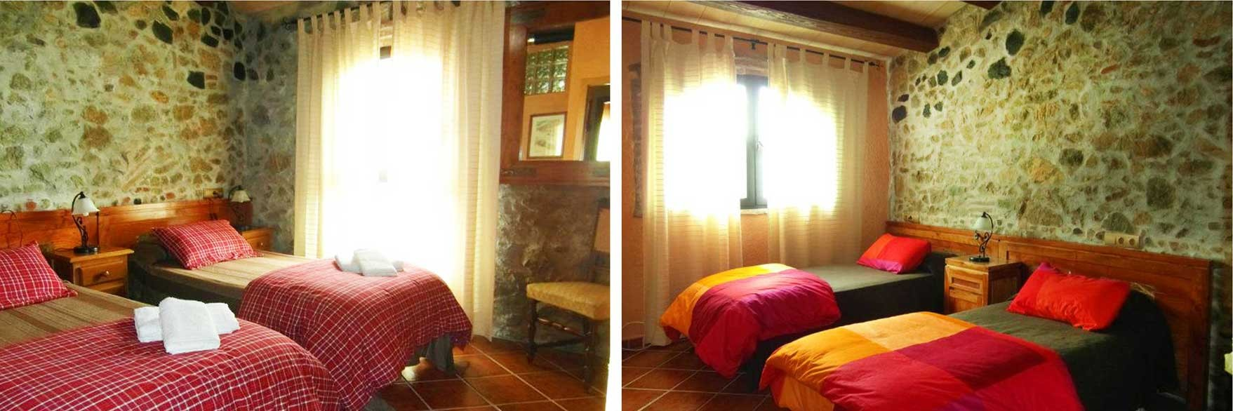 Habitaciones dobles: Els Camps y El Castell