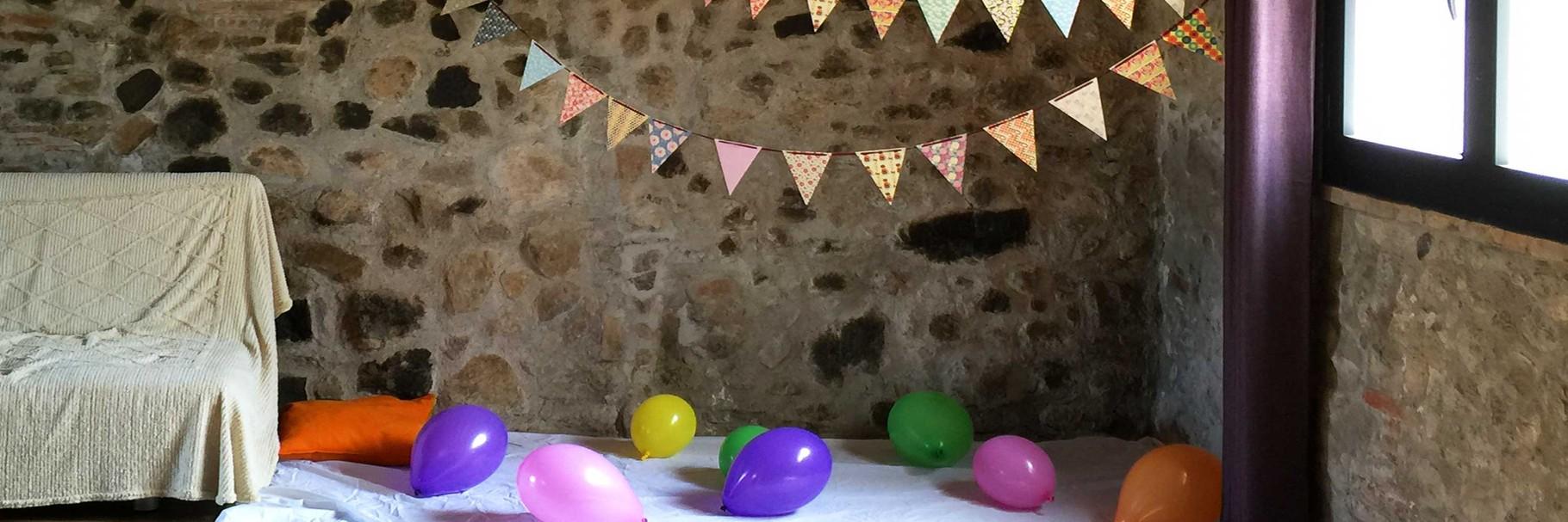 Sala y globos