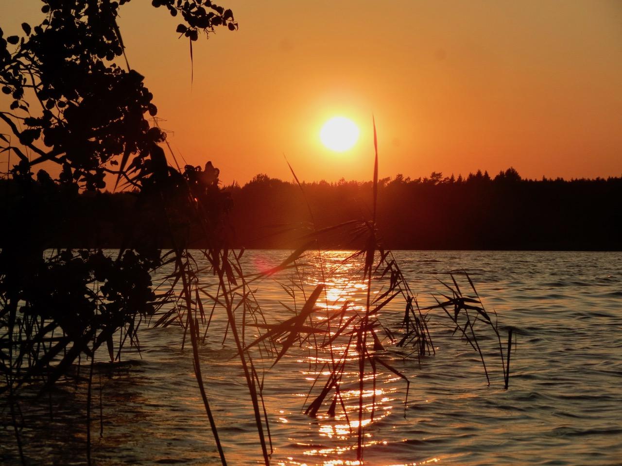 Sonnenuntergang am Drewensee