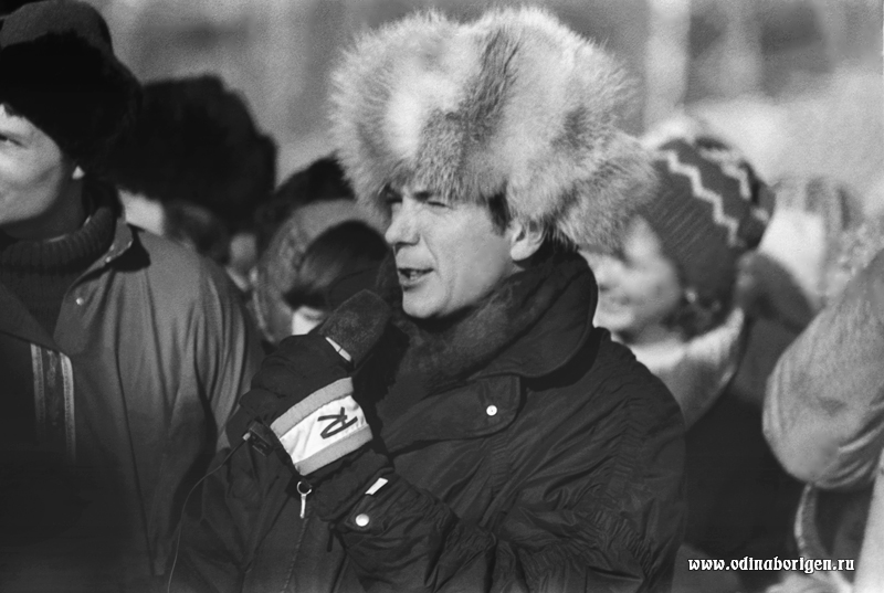 ЮРИЙ НИКОЛАЕВ В ОДИНЦОВО. 1987 год.
