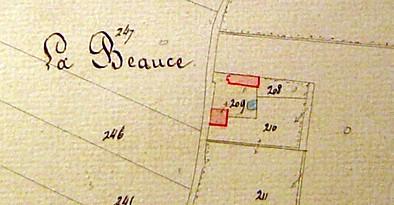 En 1834, il y avait deux bâtiments et une mare.