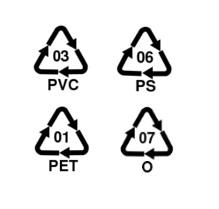 Kunststoffkennzeichnungen PET PVC PS O