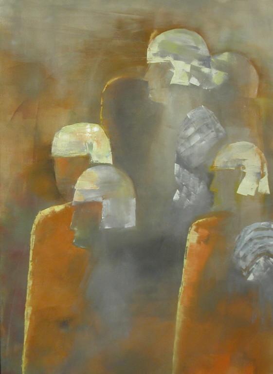 Stolze Römer, Öl, Leinen, 80 x 60 cm