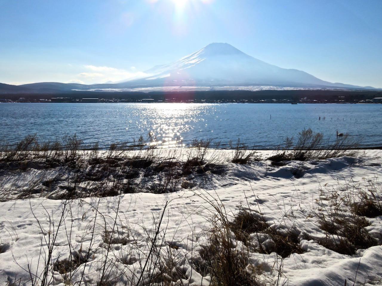 山中湖の富士 by住職