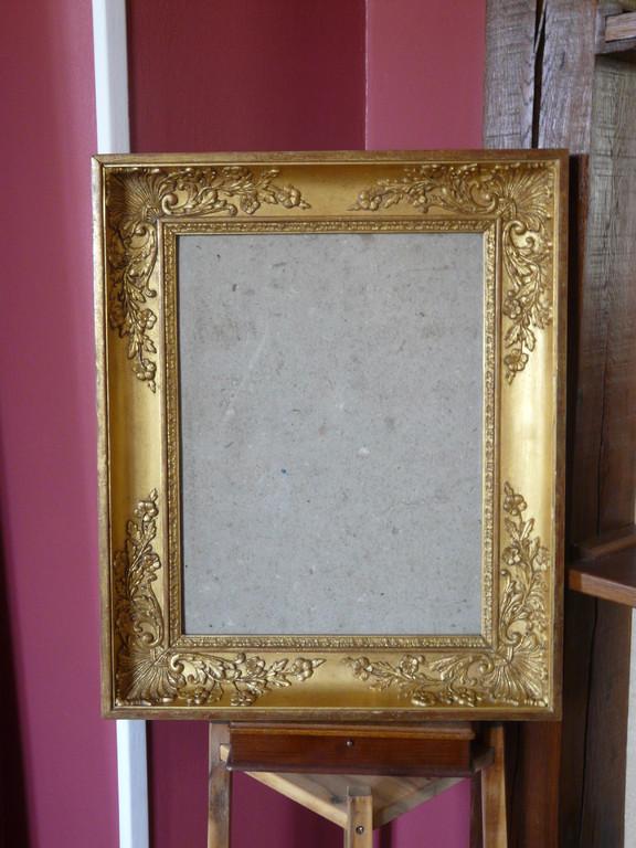 Cadre doré époque restauration