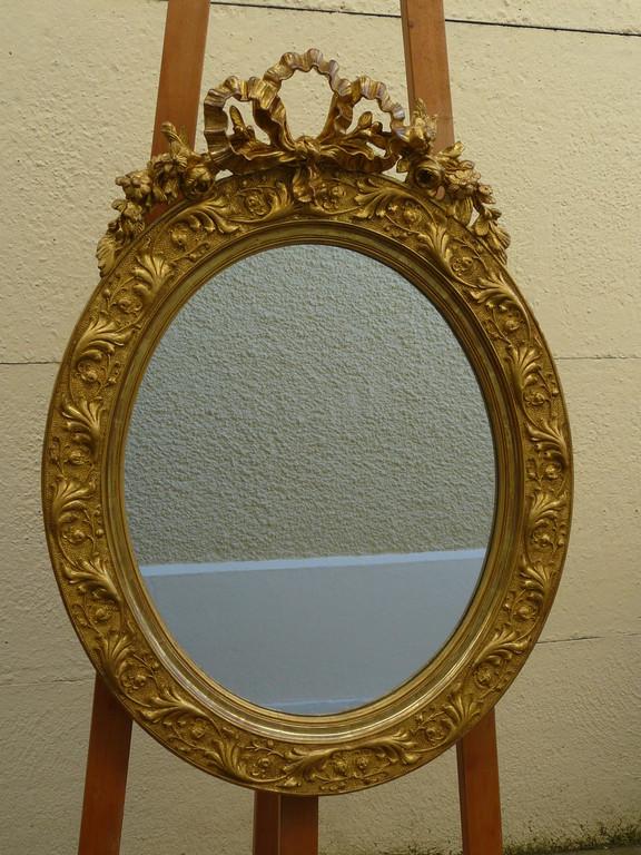 Miroir oval XIXème