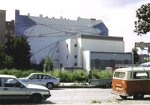 VERSPANNUNG,  Berlin-Charlottenburg, 1980, Auftraggeber: BEWAG/Berlin, Photo: Christianne Neuhaus