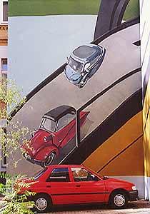KLEINWAGEN-MUSEUM,  Schönhauser Allee 146 Berlin, 1995, Auftraggeber: Architekturbüro D. Dörschner, Photo: Daniel Neuhaus