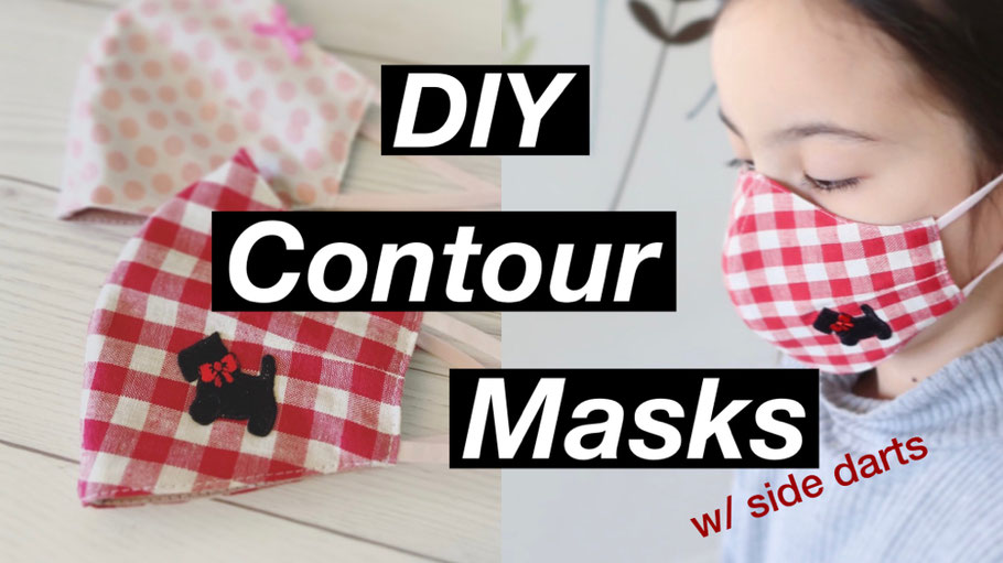 Free Pattern: Contour Mask with Side Darts