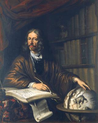 Portrait de Johan Hevelius, astronome de Dantzig. (source : labitacoradealchemy.com, non datée)