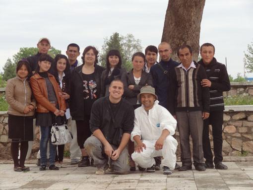 Une classe de lycéens spécialisés dans le tourisme a participé pendant un mois au chantier (Socra, 2013)