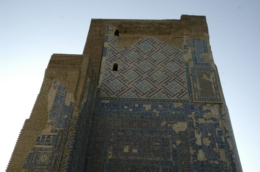 partie supérieure et départ d'arc de l'Iwan Ouest (Shahrisabz, Fin XIII-début XIVème s ap J.C.) (photo : M.Schvoerer, 2008)