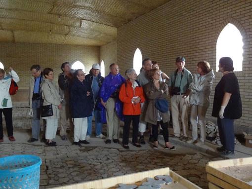Commentaires/visite du chantier pour un groupe de touristes francophones (Socra, 2013)