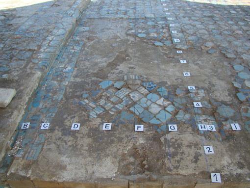 Aperçu d'une partie du pavement 3/3 avant dépose (Socra, 2012)