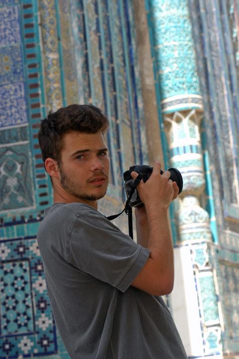 Nils Schvoerer-Ney, étudiant à l'école d'Architecture et de Paysage de Bordeaux (photo : M.Schvoerer, 2008)