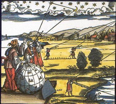 Claude Ptolémée observant le ciel (source:Astro-club du Marsan, 2009)