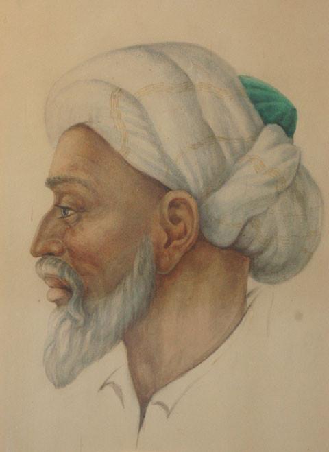 Représentation d'Abul Ali ibn Sina, auteur de plusieurs traités de géographie, minéralogie, histoire, philosophie et astronomie (photo : M.Schvoerer, 2008)