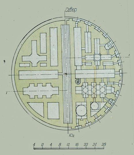Plan au sol de l'observatoire réalisé durant les fouilles de 1948 (photo : C.Ollagnier, 2008)