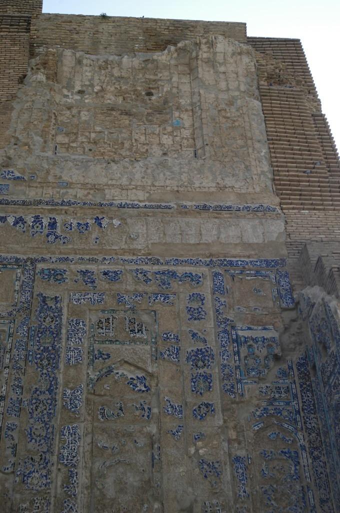 Décoration de l'iwan est (Shahrisabz, Fin XIII-début XIVème s ap J.C.) (photo : M.Schvoerer, 2008)