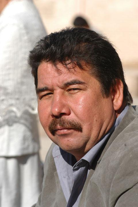 Mr Nematjon Polvonov, historien à Khiva (photo : M.Schvoerer, 2008)