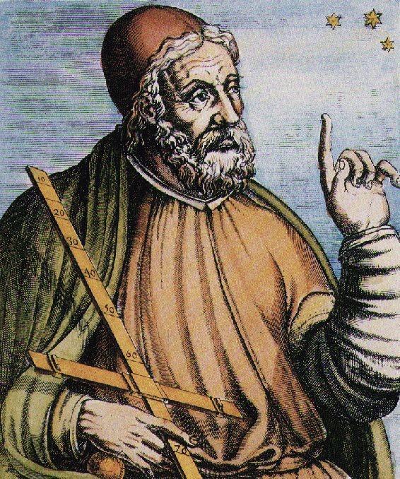 Claude Ptolémée (portrait attribué à André Thevet, (source: anthropologie du monde, 2009)