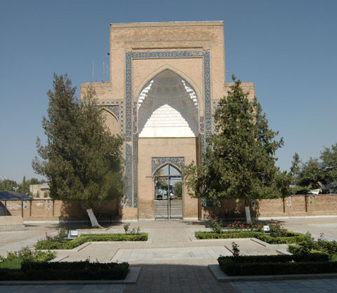 Entrée du Gour Emir en cours de restauration (photo : A.Billard, 2008)
