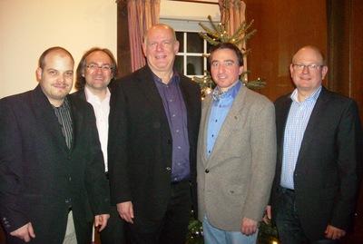 Martin Hollinger, Stephan Dahlmanns, Thomas Nückel, Martin Strauch und Stefan Schuster (v.l.n.r.)