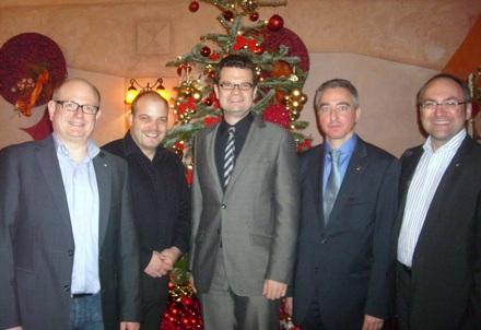 (v.l.n.r.: Stefan Schuster, Martin Hollinger, Marco Buschmann MdB, Martin Strauch, Stephan Dahlmanns)