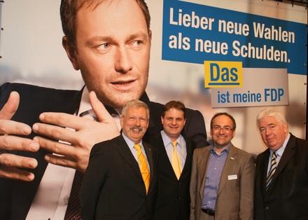 Eduard Schreyer, Ralf Witzel, Stephan Dahlmanns und Detlef Below sind auf die Landesliste gewählt worden (v.l.n.r.).
