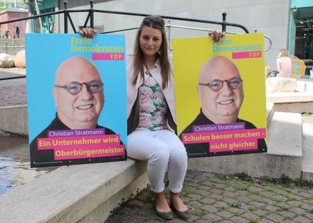 Wahlkampfmanagerin Nina Kolok koordiniert alle Termine und Kampagnen in der Parteigeschäftsstelle.