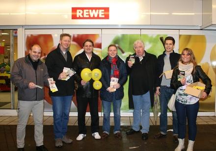 Die liberalen Kampagnehelfer beziehen Position auf Essens Einkaufsstraßen