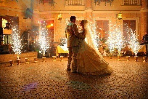 Imposante Hochzeitsfeier