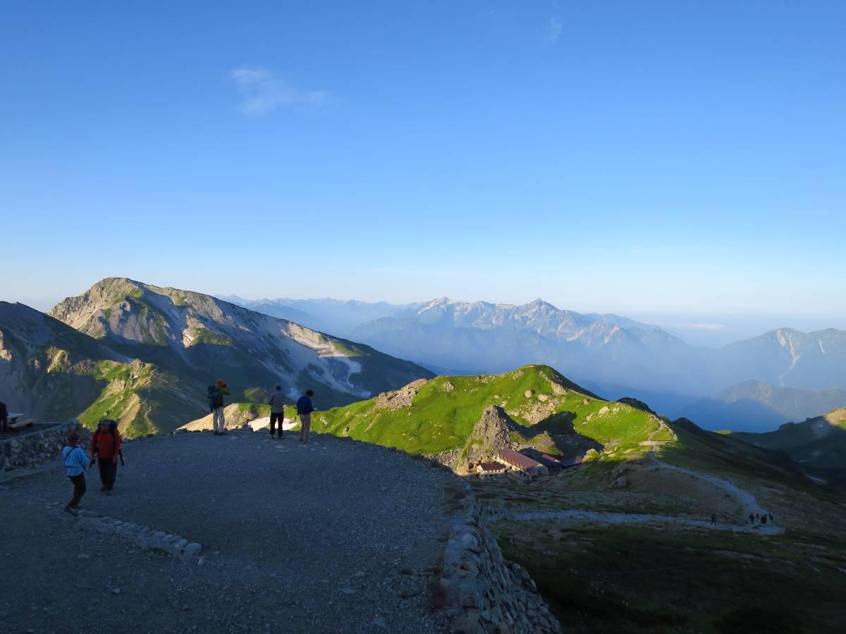 頂上付近からみた剱岳