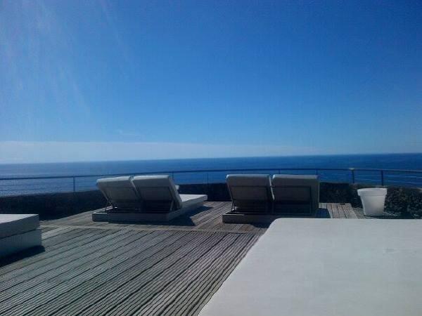 Hier mit Blick aufs Meer findet Yoga statt! :-) Madeira, Design Hotel Estalagem